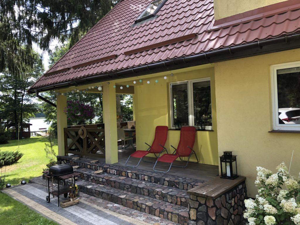 Dom na Mazurach nad jeziorem Sasek Wielki