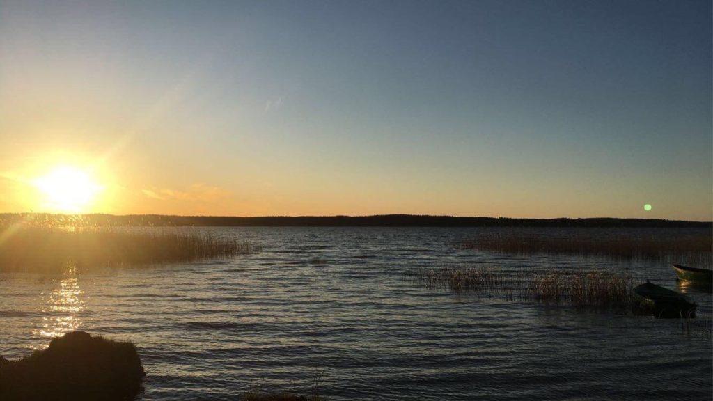 Zachód słońca domnadsaskiem